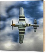 P51d Mustang Ferocious Frankie Wood Print by Phil 'motography' Clark