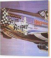 P51d Mustang Grim Reaper Warbird Wood Print