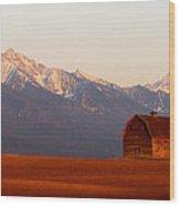 Pablo Barn And Mission Range Wood Print