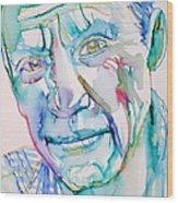 Pablo Picasso- Portrait Wood Print by Fabrizio Cassetta