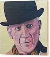 Pablo Picasso Wood Print by Tom Roderick