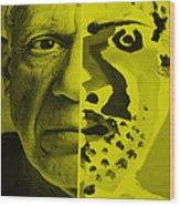 Pablo Yellow Wood Print
