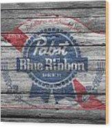 Pabst Blue Ribbon Beer Wood Print