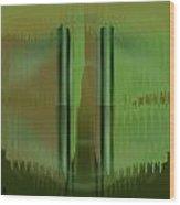 Pacan - Green Wood Print