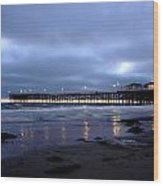 Pacific Beach Pier Wood Print
