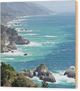 Pacific Coast Highway Mini Arch Rock Wood Print