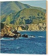 Pacific Coast Panorama Wood Print by Benjamin Yeager
