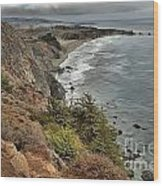 Pacific Coast Storm Clouds Wood Print
