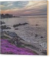 Sunset In Pacific Grove Wood Print