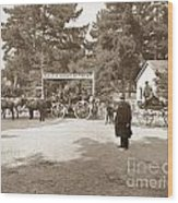 Pacific Grove Retreat Gate On Lighthouse At Grand Aves  With  O. J. Johnson Circa 1880 Wood Print