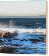 Pacific Grove Surf 19894 Wood Print