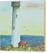 Pacific Lighthouse Wood Print