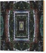 Pacific Madrone Mandala Yantra Wood Print
