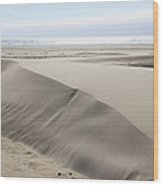 Pacific Ocean Sand Dunes Wood Print
