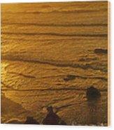 Pacific Ocean Sunset Bandon Beach Oregon Wood Print