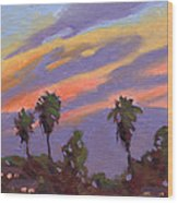 Pacific Sunset 1 Wood Print