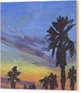 Pacific Sunset 2 Wood Print