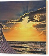 Pacific Sunset By Diana Sainz Wood Print