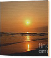 Pacific Sunset Reflection Wood Print