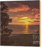 Pacific Sunset Wood Print by Robert Bales