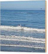 Pacific Surfer Wood Print
