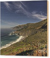 Pacific View  Wood Print