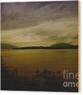 Pack Lake Wood Print