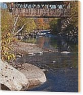Packard Hill Bridge Lebanon New Hampshire Wood Print by Edward Fielding