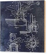 Packard Hood Ornament Blue Wood Print