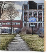Packard Motel Wood Print