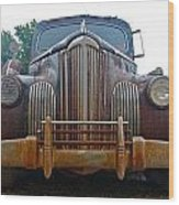 Packard One-eighty Grill Wood Print