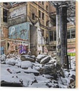Packard Plant Detroit Michigan - 11 Wood Print