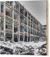 Packard Plant Detroit Michigan - 12 Wood Print