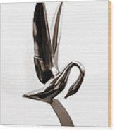 Packard Swan Hood Ornament 1 Wood Print
