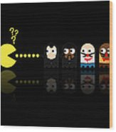 Pacman Pulp Fiction Wood Print by NicoWriter