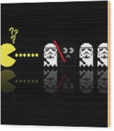 Pacman Star Wars - 1 Wood Print