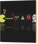 Pacman Star Wars - 2 Wood Print by NicoWriter