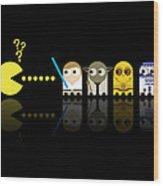 Pacman Star Wars - 3 Wood Print by NicoWriter