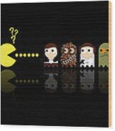 Pacman Star Wars - 4 Wood Print by NicoWriter