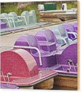 Paddle Boats Wood Print