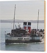 Paddle Steamer Wood Print