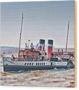 Paddle Steamer Waverley Wood Print