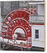 Paddle Wheel Wood Print by Tom and Pat Cory