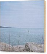 Stand-up Paddle Boarding Wood Print
