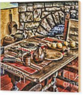 Padre's Table By Diana Sainz Wood Print