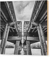 Page Bridge Geometry Wood Print