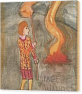 Page Of Wands Wood Print