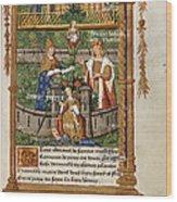 Pageant At Saints-innocents Wood Print
