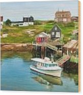 Peggy's Cove Boat Tours Wood Print