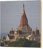 Pagoda In Bagan, Upper Burma Myanmar Wood Print